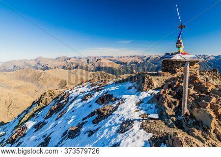Peaks Of Coma Pedrosa, Highest Mountain In Andorra