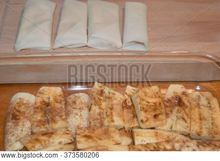 Plantain Cooking Banana In Eggroll Wrapper Turron