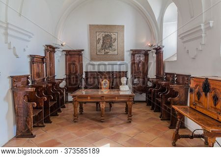 Cordoba, Spain - November 5, 2017: Interior Of Alcazar De Los Reyes Cristianos In Cordoba, Spain