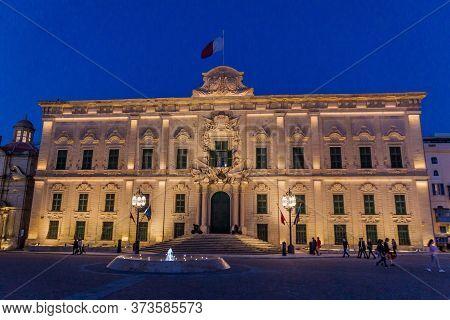 Valletta, Malta - November 6, 2017: Auberge De Castille Building In Valletta Hosting The Office Of T