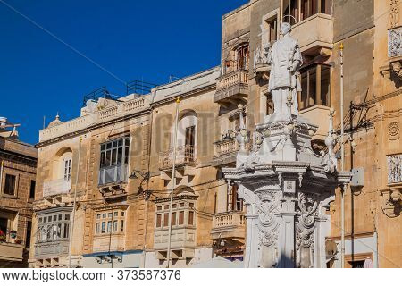 Statue Of St. Lawrence In Birgu Town, Malta