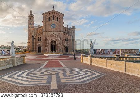 Basilica Of The National Shrine Of The Blessed Virgin Of Ta Pinu On The Island Of Gozo, Malta
