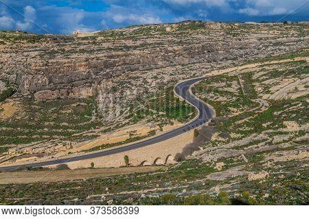 Road To Dwejra On The Island Of Gozo, Malta