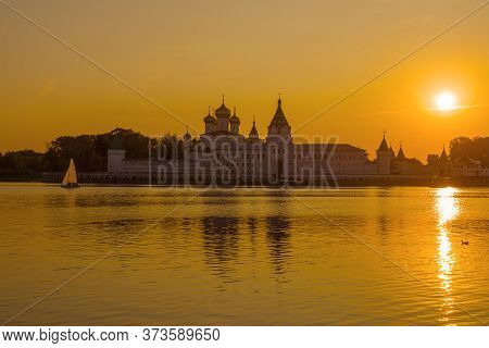 Sunset At The Ipatievskiy Monastery. Kostroma, Golden Ring Of Russia