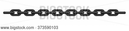 Black Chain Isolated On White Background, Black Chain Steel, Illustration Chains