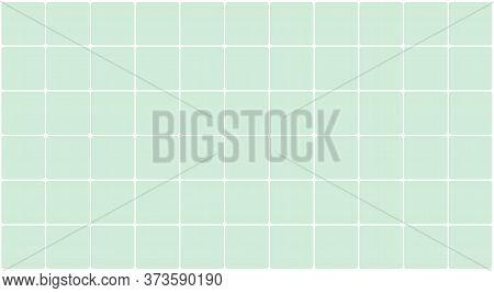 Wall Tile Ceramic For Architecture Background, Tiled Floor Bathroom Green Pastel Color, Illustration
