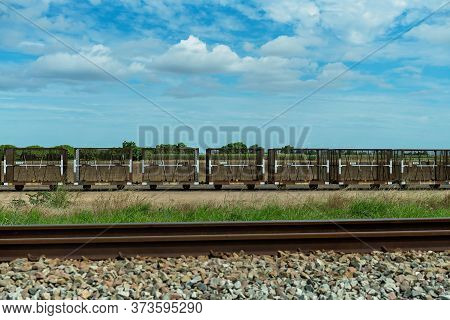 Empty Sugar Cane Bins At A Railway Siding In The Country Ready To Be Filled With Harvested Cane And