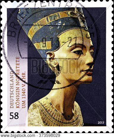 02.10.2020 Divnoe Stavropol Territory Russia The Germany Postage Stamp 2013 Treasures Of German Muse
