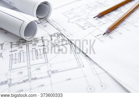 Architect Workplace Top View