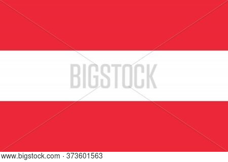 Austria Flag Vector Illustration. National Flag Of Austria. Austria Flag, Official Colors And Propor