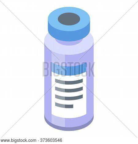 Syringe Glass Jar Icon. Isometric Of Syringe Glass Jar Vector Icon For Web Design Isolated On White