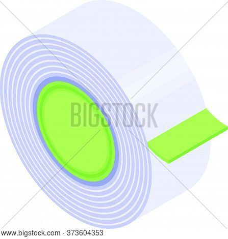 Masking Scotch Tape Icon. Isometric Of Masking Scotch Tape Vector Icon For Web Design Isolated On Wh