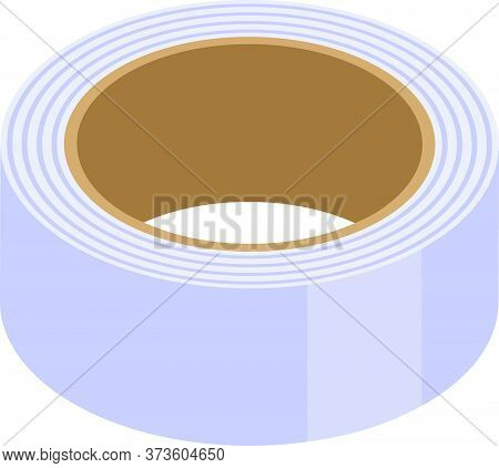 School Scotch Tape Icon. Isometric Of School Scotch Tape Vector Icon For Web Design Isolated On Whit