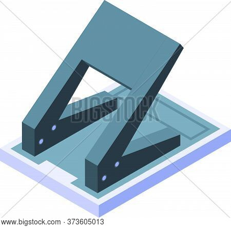 Black Hole Puncher Icon. Isometric Of Black Hole Puncher Vector Icon For Web Design Isolated On Whit