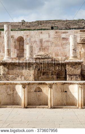 Ruins Of The Roman Theatre In Amman.