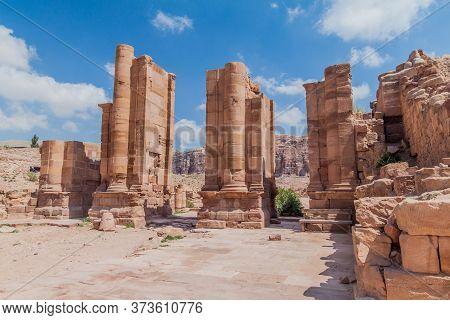 Temenos Gateway In The Ancient City Petra, Jordan