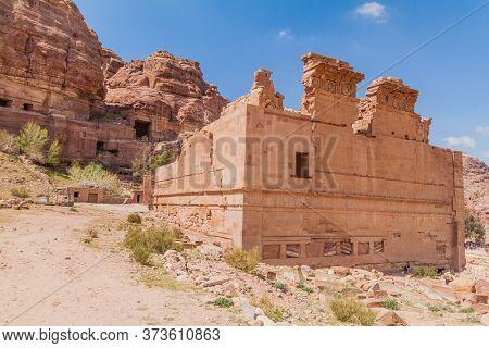 Qasr Al Bint Temple Of Dushares In The Ancient City Petra, Jordan