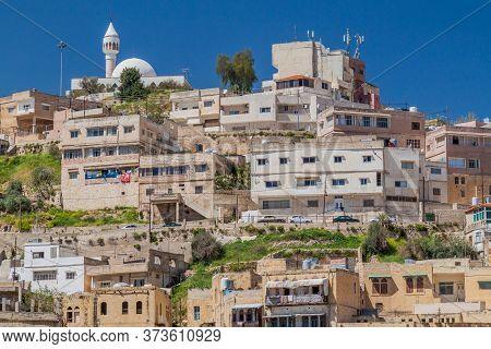 Houses On A Slope In Salt Town, Jordan