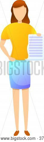 Contract Purchasing Manager Icon. Cartoon Of Contract Purchasing Manager Vector Icon For Web Design