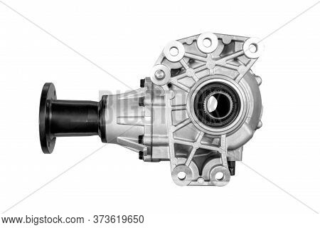 Gear Front Axle Of A Car On A White Background