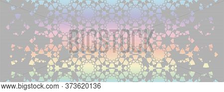 Arabian Holographic Background. Vector Template Of Modern Background For Invitation, Celebration, Sa