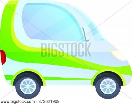 Hybrid Car With Accumulator Icon. Cartoon Of Hybrid Car With Accumulator Vector Icon For Web Design