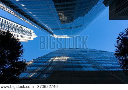 Sydney, Australia - July 23, 2016: Aurira Place And Governor Macquarie Tower On Phillip Street In Sy