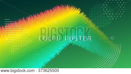 Colorful Fluid Background. Neon Gradient Motion. Abstract Pattern. Vector Music Fluid Background. Cr