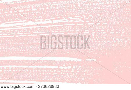 Grunge Texture. Distress Pink Rough Trace. Graceful Background. Noise Dirty Grunge Texture. Outstand