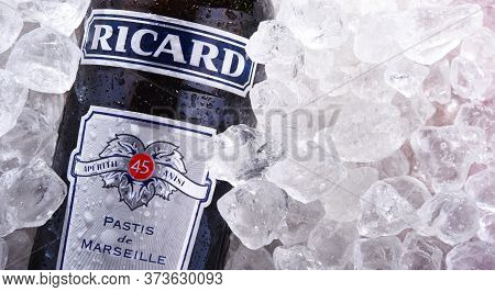 Bottle Of Ricard, A Pastis Aperitif