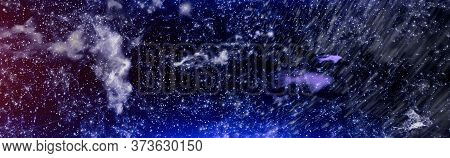 Chaotic Space Background. Planets, Stars And Galaxies In Outer Space Showing The Beauty Of Space Exp