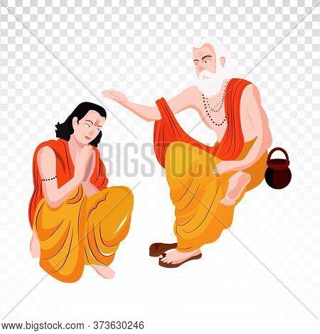 Guru Purnima Charachter On Png Background. Png Background.