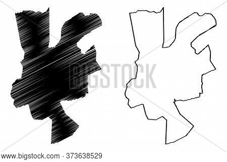 Gwalior City (republic Of India, Madhya Pradesh State) Map Vector Illustration, Scribble Sketch City