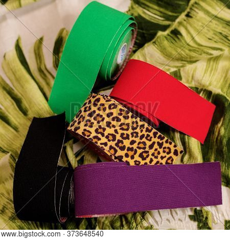 Multi-colored Kinesio Tapes For Taping. Choose Your Color. Kinesiology. Cosmetology, Aesthetic Tapin