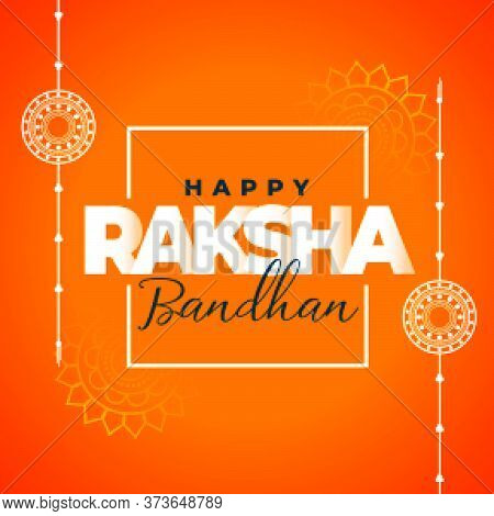 Happy Raksha Bandan Traditional Decorative Wishes Card Design