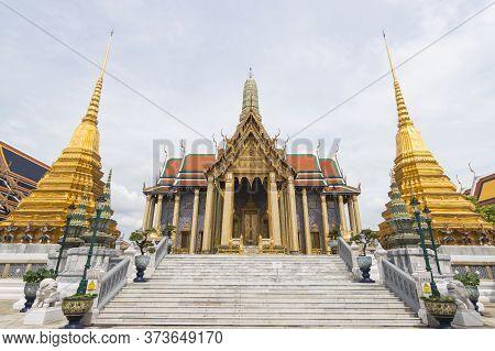 Wat Phra Kaew, Thailand  - June 08, 2020 :-officially Known As Wat Phra Sri Rattana Satsadaram Is Re