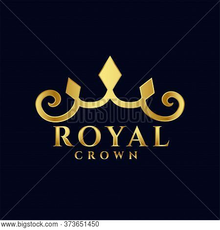 Royal Crown Logo Concept Premium Icon Design