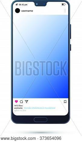 Phone Mockup Template. Smart Phone Mockup. Realistic Mobile Device Mockup Vector