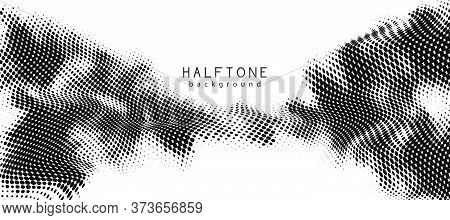 Abstract Vector Background. Halftone Gradient Gradation. Vibrant Flowing Texture. Smoke Effect. Retr