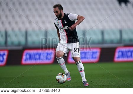 Torino (italy) 26th June 2020. Italian Serie A. Juventus Fc Vs Us Lecce. Gonzalo Higuain Of Juventus