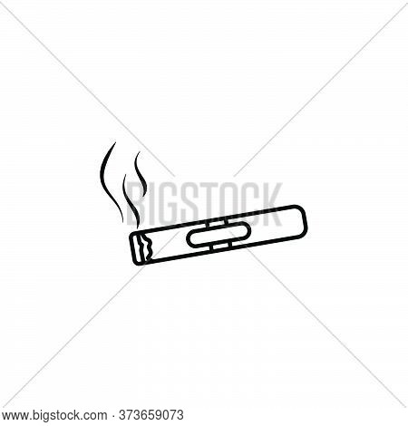 Smoker Line Icon. Signs And Symbols Can Be Used For Web, Logo, Mobile App, Ui, Ux
