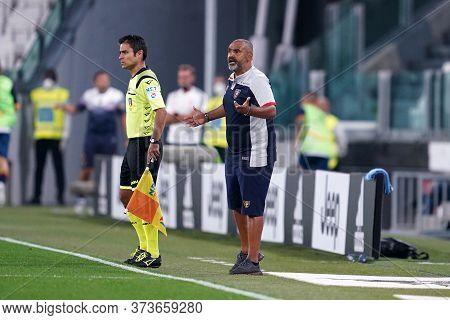 Torino (italy) 26th June 2020. Italian Serie A. Juventus Fc Vs Us Lecce. Fabio Liverani Head Coach O