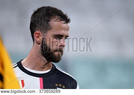 Torino (italy) 26th June 2020. Italian Serie A. Juventus Fc Vs Us Lecce. Miralem Pjanic Of Juventus