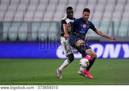Torino (italy) 26th June 2020. Italian Serie A. Juventus Fc Vs Us Lecce. Andrea Rispoli Of Us Lecce