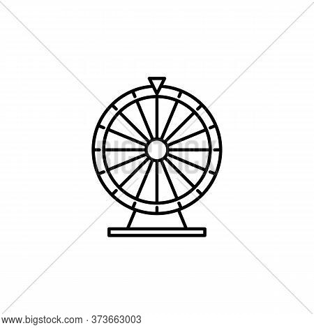 Fortune Wheel Line Icon. Signs And Symbols Can Be Used For Web, Logo, Mobile App, Ui, Ux