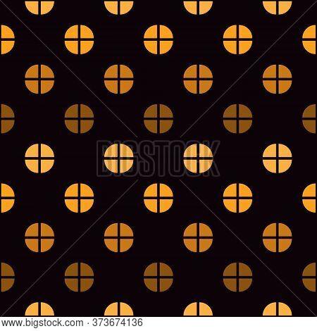 Mini Circle Seamless Pattern. Classic Geometric Print. Repeated Polka Dot Motif Ornament. Simple Geo