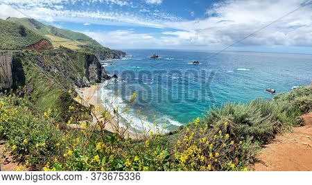 Big Sur, California (usa) - Stunning Landscape Scenery From The Famous Coastal Route Of California's