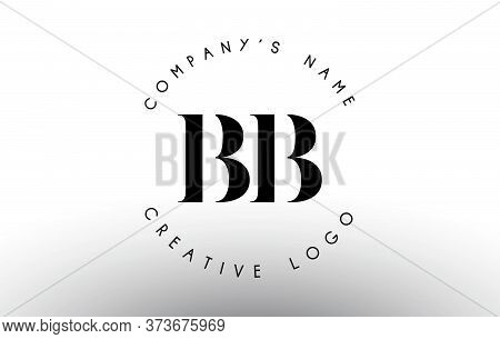 Letters Bb B Logo With A Minimalist Design. Simple Bb Icon With Circular Name Pattern.