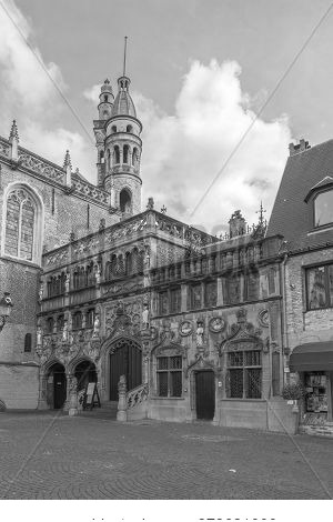 Basilica Of The Holy Blood On Burg Square In Center Of Bruges, Belgium