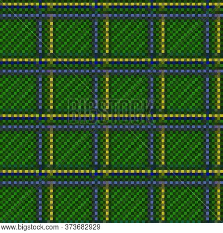 Tartan Scottish Muted Seamless Pattern In Green, Yellow And Blue Hues, Texture For Flannel Shirt, Pl